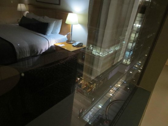 Rydges World Square Sydney Hotel: View from room (with reflection)