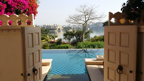 The Oberoi Udaivilas: View from the room with semi private pool