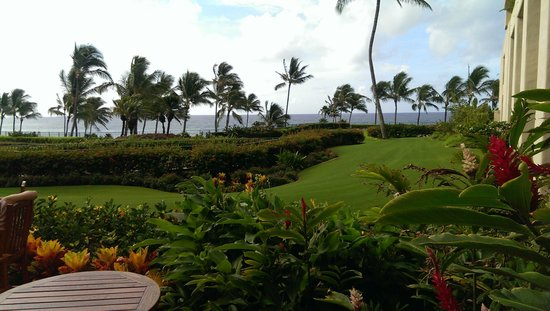 Grand Hyatt Kauai Resort & Spa: View from our buffet in the Grand Lounge
