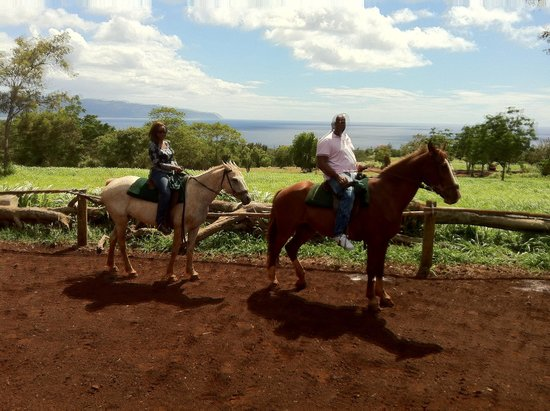 Happy Trails Hawaii : The wife and I enjoying the tour