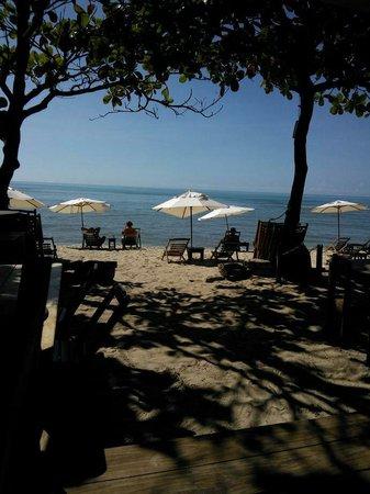 Aquarela Praia: Vista do lugar que tomamos café da manhã!