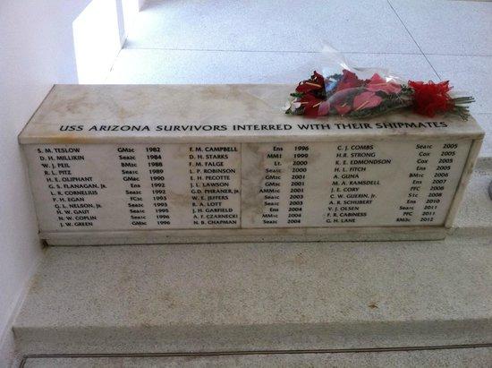 USS Arizona Memorial/WW II Valor in the Pacific National Monument : The USS Arizona Memorial 18