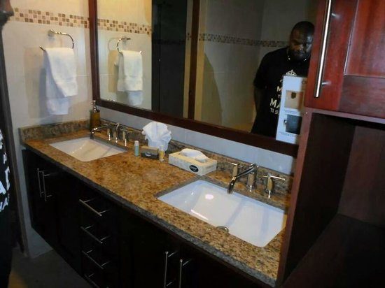 Ciqala Luxury Suites: Master bathroom sinks