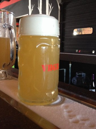 """VBGB Beer Hall & Garden/Restaurant : The cool ice """"bar"""" to keep your drink nice and cold."""