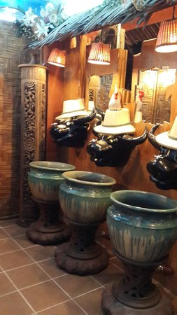 Phuket FantaSea: The buffalo head tap in Paddy washroom