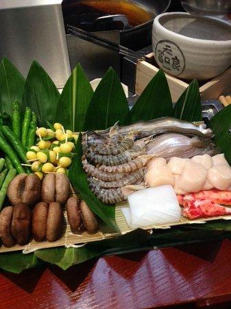 Tenichi Ginza Honten: fresh ingredients