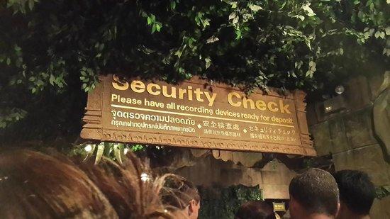 Phuket FantaSea: Security check for camera
