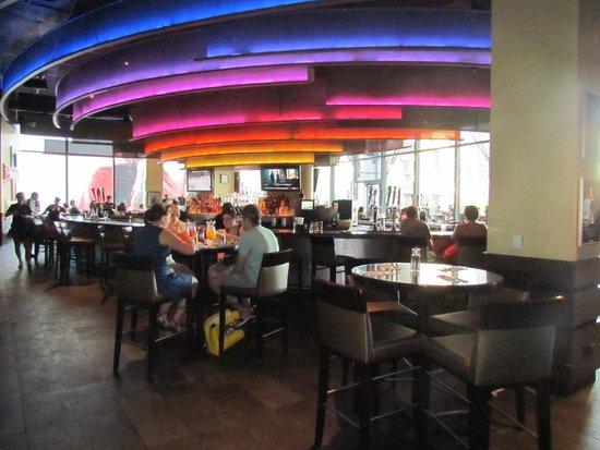 Hard Rock Cafe: the spacious bar area