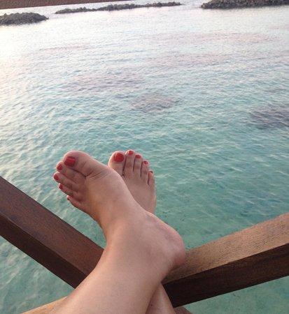 Vivanta by Taj Coral Reef Maldives: View from our water villa