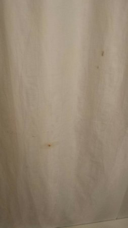 Fairbridge Inn Express: Blood on shower curtain