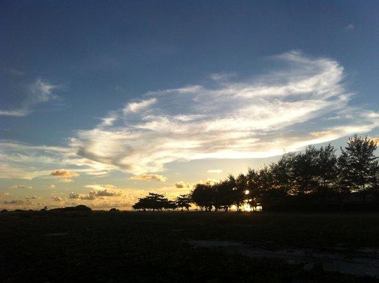 Avillion Layang Layang: Sunset view from Runway