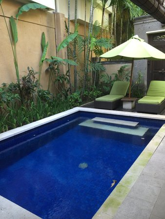 Kamuela Villas and Suite Sanur: pool in villa 7