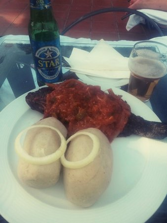 Golden Tulip Accra: fish with some local stuff..