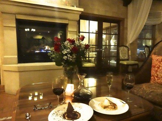 Mirbeau Inn & Spa Skaneateles: Romantic anniversary dessert