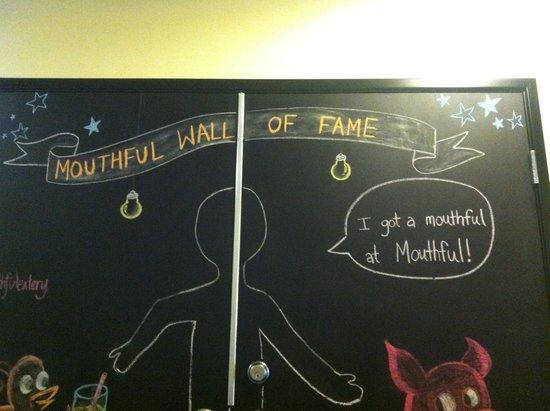 Mouthful Eatery : Chalkboard Wall
