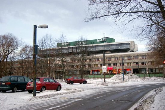 Pirita Spa Hotel: Вид с трассы