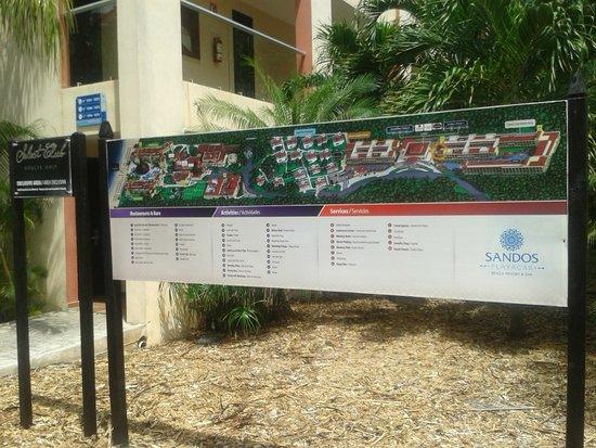 Sandos Playacar Beach Resort: Para ubicarse.