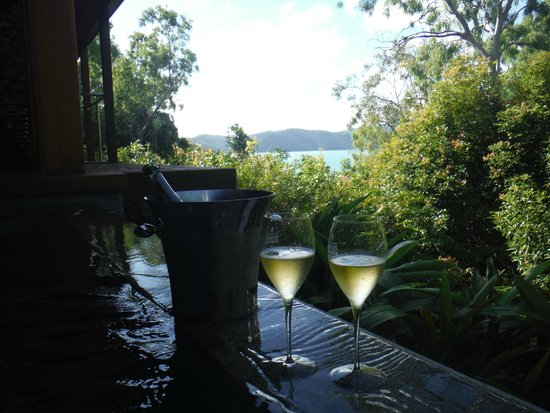 Qualia Resort: View from the private plunge pool in our Windward Pavilion room.
