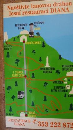 Diana Lookout Tower: Схема достопримечательностей поблизости