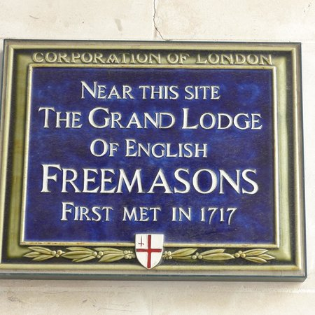 Paternoster Square: Grand Lodge of the Freemasons plague