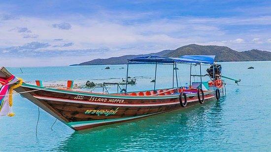Koh Taen: Long tail boat