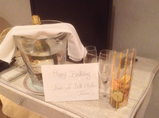Hotel La Belle Etoile: A birthday surprise.