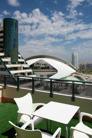 NH Valencia Las Ciencias : Terrace