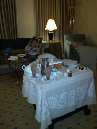 The Landmark London: enjoying room service