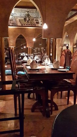 Fez-Kinara Dining and Lounge : a photo, taken from a booth, towards the dining room