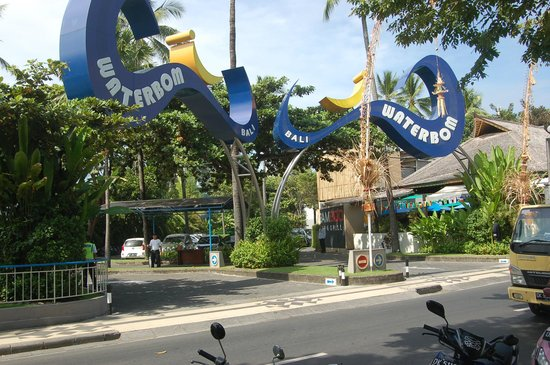 Waterbom Bali : the entrance during the day time
