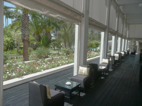 Sofitel Rabat Jardin des Roses : A drink by the roses
