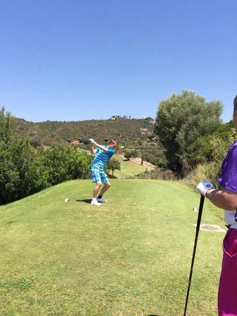 Marbella Golf Country Club: Teeing off at the 2nd.....