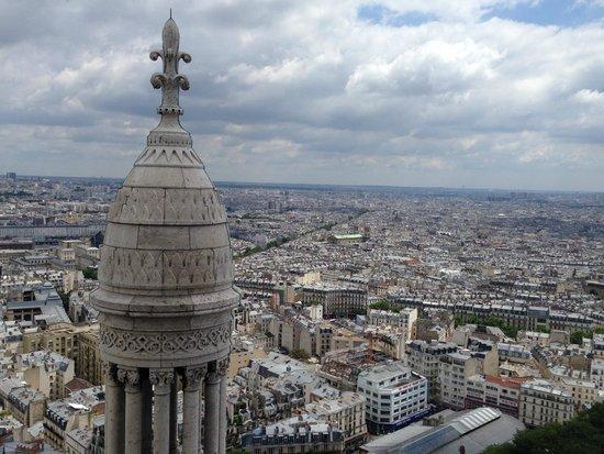 Basilique du Sacré-Cœur de Montmartre : Aussicht