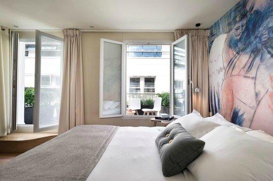 Max Hôtel : Chambre avec terrasse privative