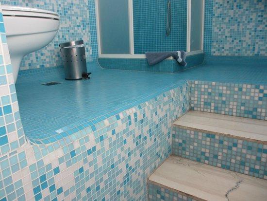 Myconian Inn Hotel: RAISED BATHROOM