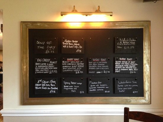 Mortimer Arms: Exhorbitant prices for harvester type dishes with fancy descriptions