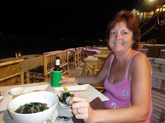 Bandara Resort & Spa: dinner on the beach in the village