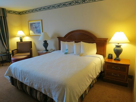 Hilton Garden Inn St. Charles: Foam-topped King bed