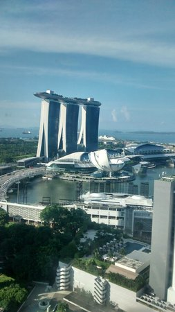 Pan Pacific Singapore: A view of  Marina Bay Hotel opposite to the my room on 32nd flr