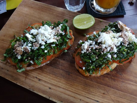 Watercress: Bruschetta