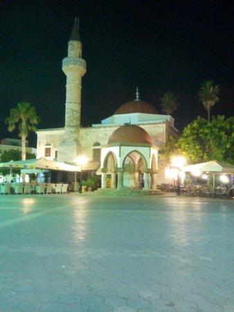 Eleftherias Square at night