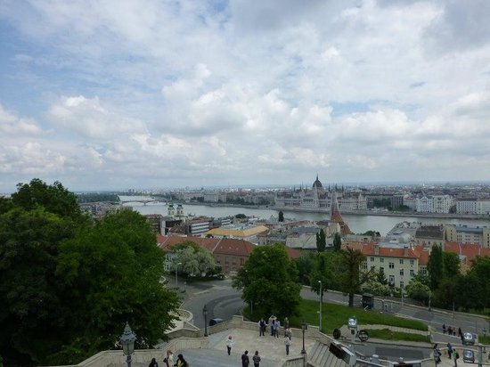 Bastion des pêcheurs : Danube and Pest View from the Fisherman's Bastion