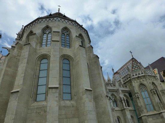 Bastion des pêcheurs : Back of Matthias Church