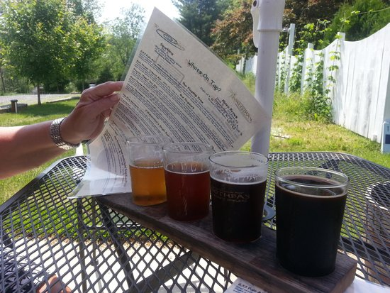 The Watershed Tavern at the Boothbay Craft Brewery: 4 snifters to try
