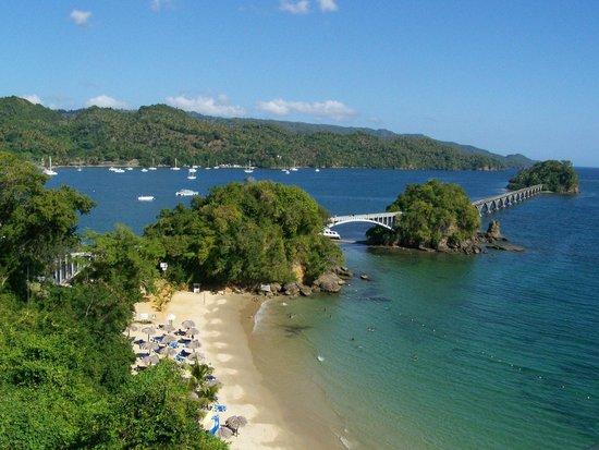 Santa Barbara de Samana, République dominicaine : La vue de notre hôtel, Playa Cayacoa