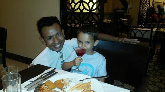 Hilton Ras Al Khaimah Resort & Spa: FARUK with my son