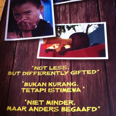 Sjaki's Warung : Indeed. Not less, but differently gifted