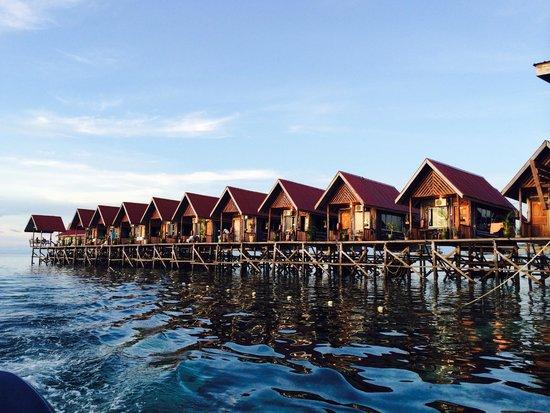 Sipadan Mabul Resort: Uncle Chang resort. Snapped on boat during water transfer.