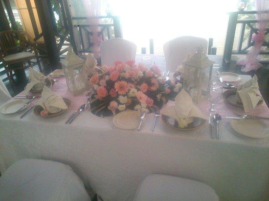 Bunga Raya Island Resort & Spa: Special setup