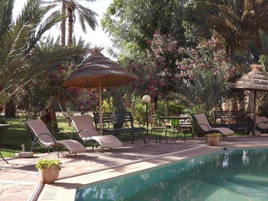 Hotel Ksar Assalassil : Espace détente prêt de la piscine